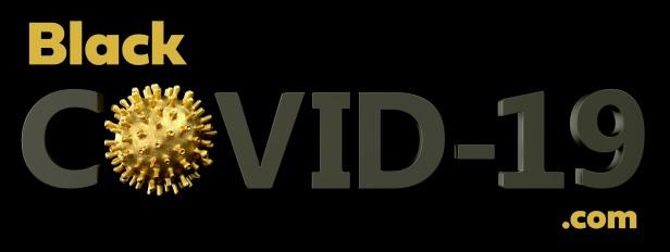 COVID-19 concept inscription typography . Coronavirus concept. Golden virus on the black background. 3d render illustration